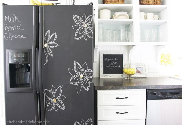if i owned my refrigerator...: Kitchens, Ideas, Chalkboards Painting, Chalkboard Paint, Chalk Boards, Diy, Painting Fridge, Chalkboards Refrigerators, Chalkboards Fridge