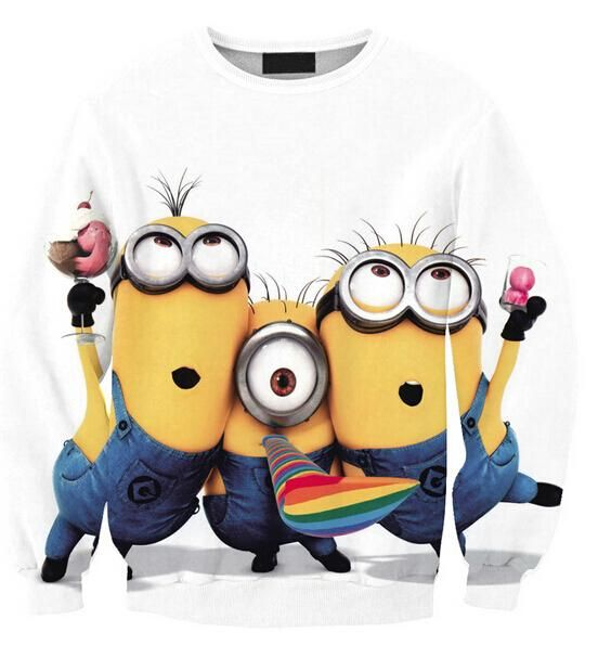 Despicable Me Cartoon Hoodies Women/Men Sweatshirts Minions Simpsons 3d Winter Coat Pullover Clothes Harajuku Top From Jessiebee, $14.07 | Dhgate.Com