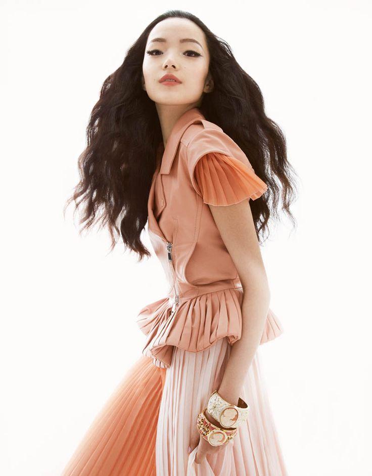 Xiao Wen Ju shot by Greg Kadel Vogue China