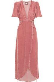 ReformationVelvet wrap dress