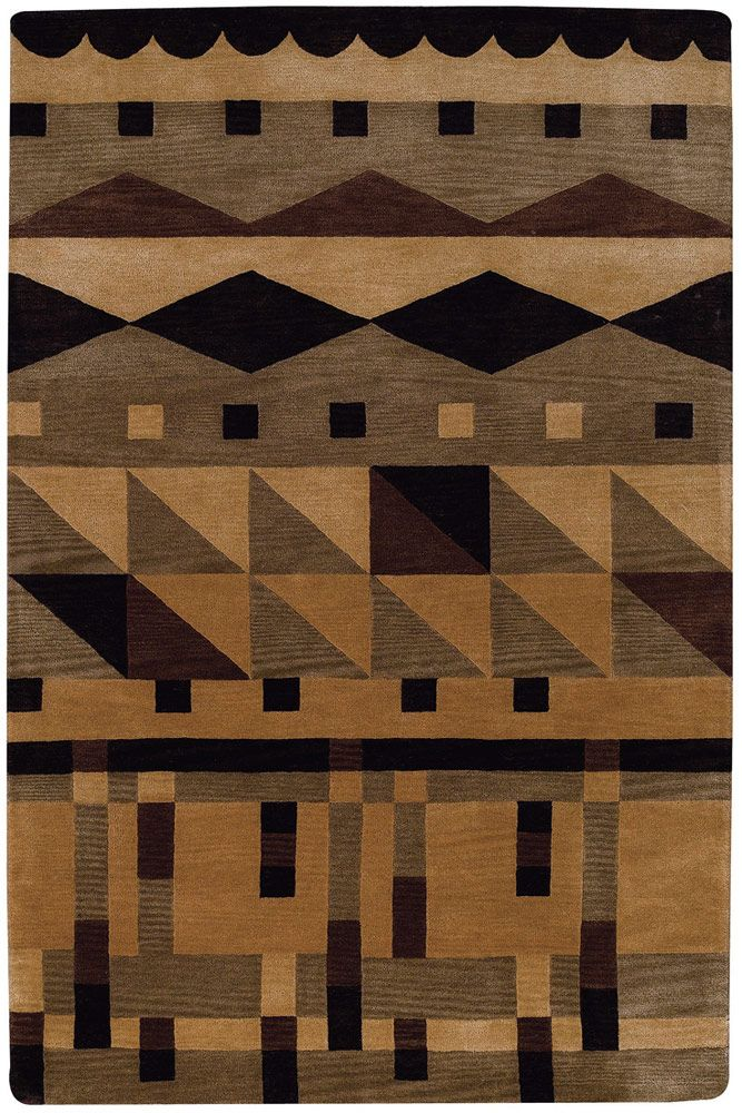 modernrugs.com Left Bank Modern Brown Rug