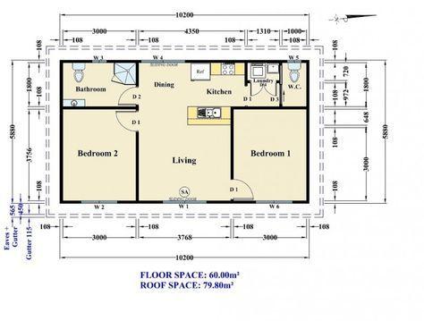 17 best Área Residencial - MG images on Pinterest Cottage, Floor - plan maison plain pied 80m2