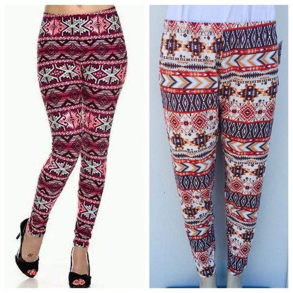 Plus size leggings Perfect for any season , plus size leggings . Price is firm unless bundled . 95% polyester 5% spandex . Please see last pic for exact color . Pants Leggings