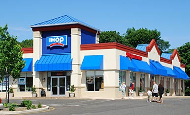(IHOP) Ate there for breakfast  a few times when we first moved to Georgia, but didn't really care for it. It seemed like their eggs were never cooked right. Their waffles were pretty good, especially with the pecan syrup. So try it you make like it! Check out their menu   www.ihop.com