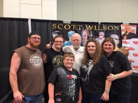 Met Scott Wilson at Walker Stalker Convention in Nashville.  We first did just a meet and greet but he was so awesome, we came back for a pic! He talked with us a long time and was by far one of the friendliest we met!