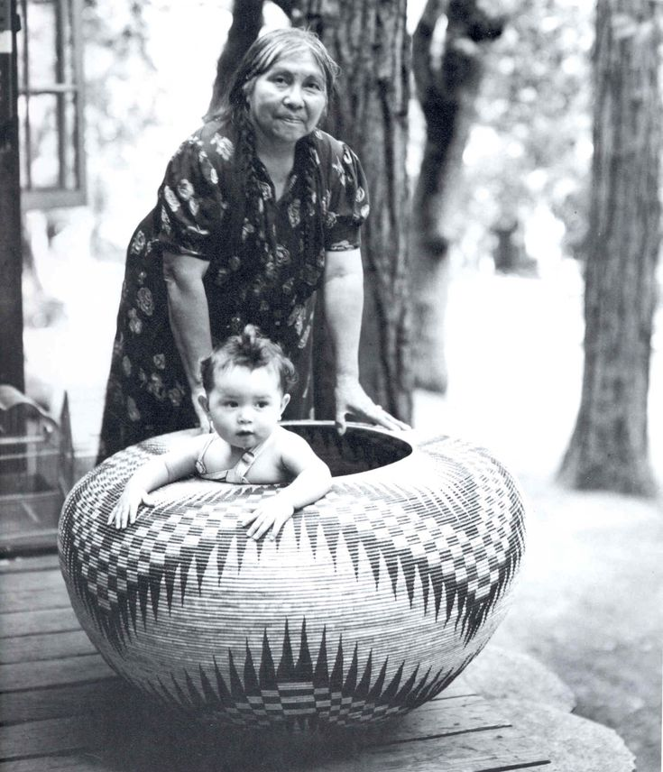 a basket from Central California. It's a coiled basket, which is the common style for that region.