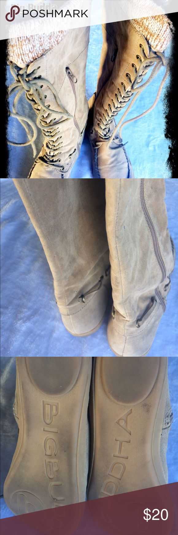 Big Buddha boots Saude Lace up showing signs of wearing. Still decent condition see pictures. Price reflects Big Buddha Shoes Lace Up Boots