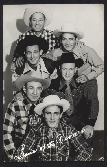 Ken Curtis front with The Sons of the Pioneer