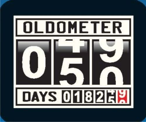 OLDOMETER 50th Birthday Humor Crazy Party Gifts Feast Joke Cool Funny T-Shirt