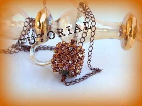 DIY TUTORIAL: ciondolo con perline Twin o Superduo / Pendant with Twin or Superduo beads (bead work) - YouTube