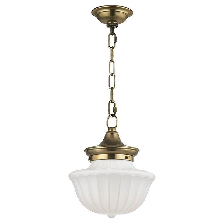 Dutchess 1 Light Mini-Pendant Light - Aged Brass at Destination Lighting