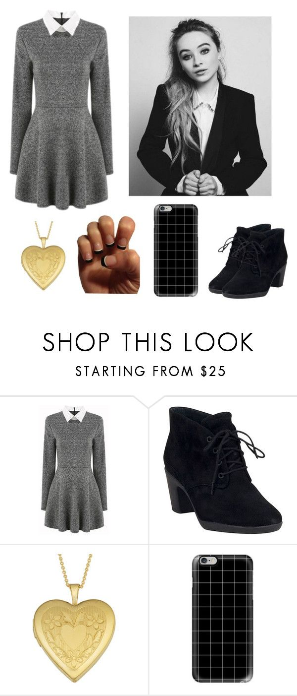 """Sabrina Carpenter "" by blue-eyed-demigod ❤ liked on Polyvore featuring Clarks, Fremada and Casetify"