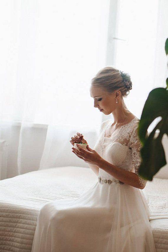 A Line Wedding Dress A Line Style Simple Wedding Dress Etsy Wedding Dresses Simple Wedding Dresses Etsy Wedding Dress