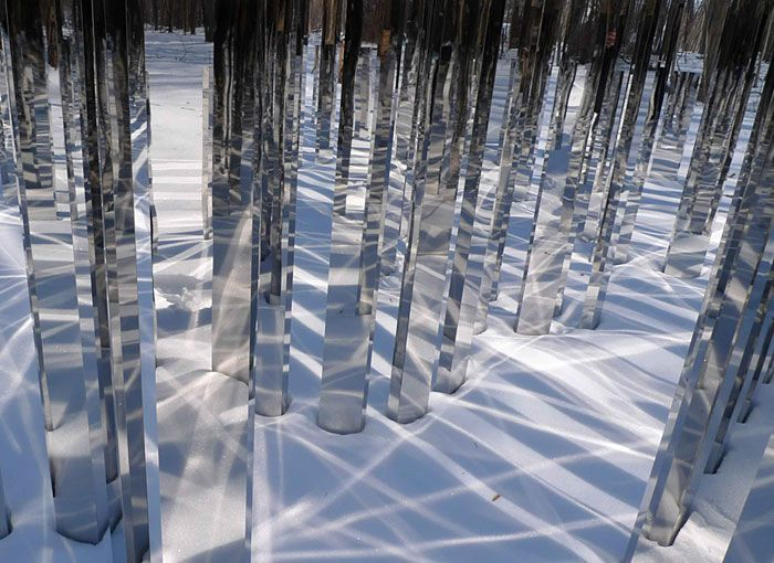 Danish artist Jeppe Hein, Mirror Labyrnth at Kraus Residence, 2008 Contemporary-Art-Blog