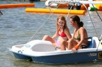 Just 4 Fun Aqua Park: Paddle boats for those who don't want to get wet occupy a 50sq/m area within the park.
