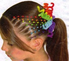Trenzas para cabello corto con ligas
