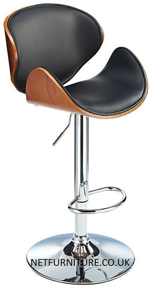 Morgan Adjustable Bar Stool with Wood Seat and High Backrest  sc 1 st  Pinterest & 177 best kitchen breakfast bar stools images on Pinterest ... islam-shia.org