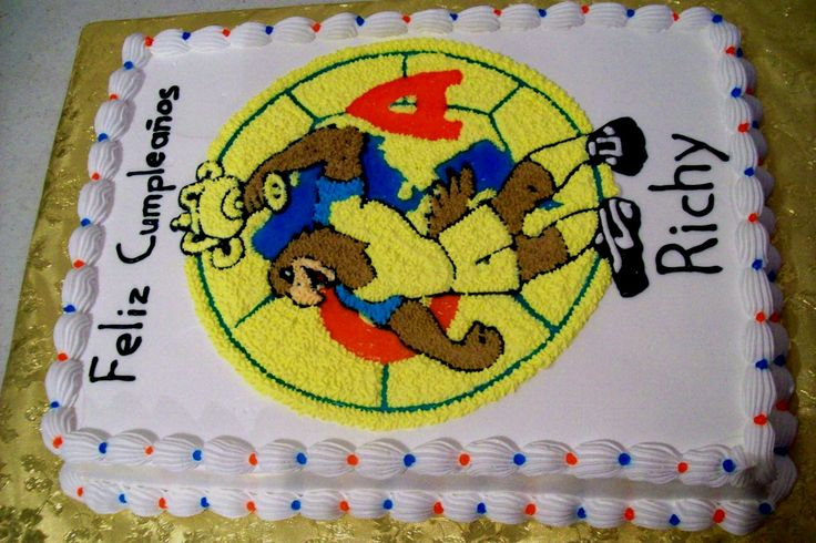 pastel del equipo de futbol águilas del América   Mis