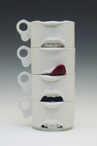 Jonah Amadeus- Expressions- wheel thrown and altered cups