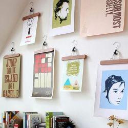 creative idea for unframed wall art, fabrics or canvas