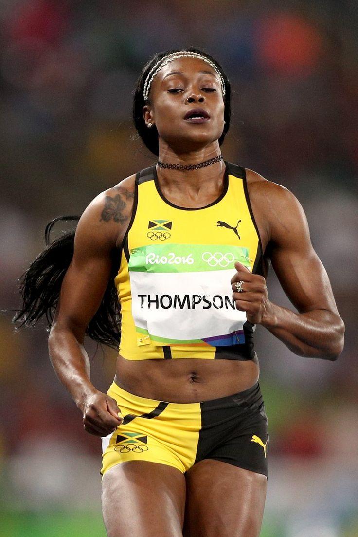 Elaine Thompson (JAM) on winning Gold in women's 100m