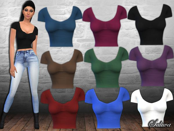 Lana CC Finds - Created By Saliwa Casual Fit Crop Tops Created...