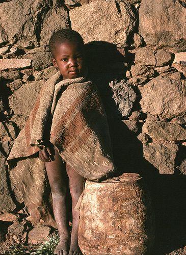 Sadness. Lesotho Africa