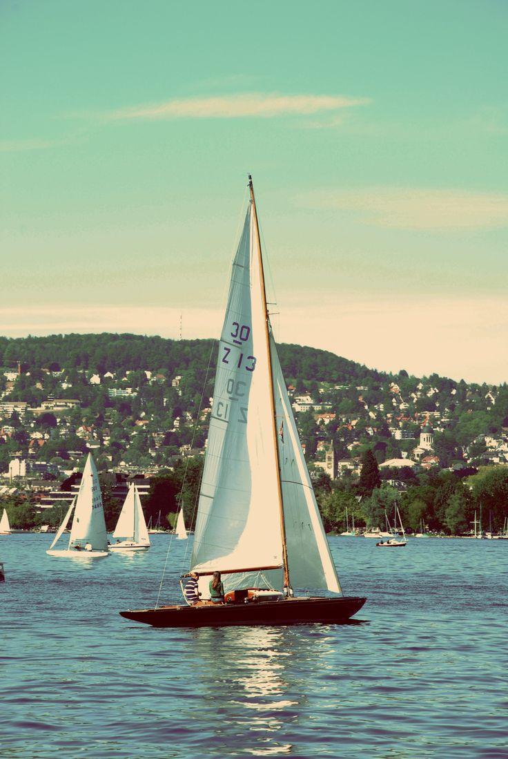 30 qm yacht on Lake Zurich. Switzerland.