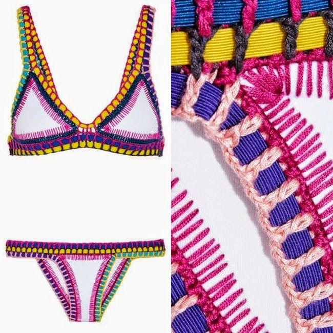 Kiini Yaz Crochet Trimmed Triangle Bikini