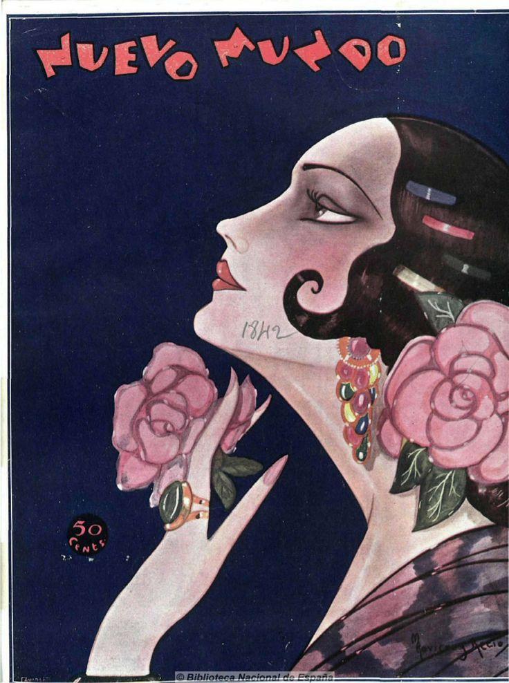Nuevo Mundo, vintage magazine published in Madrid, 1929.