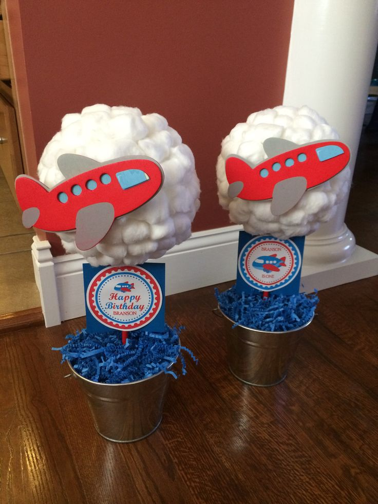 Airplane First Birthday Party theme
