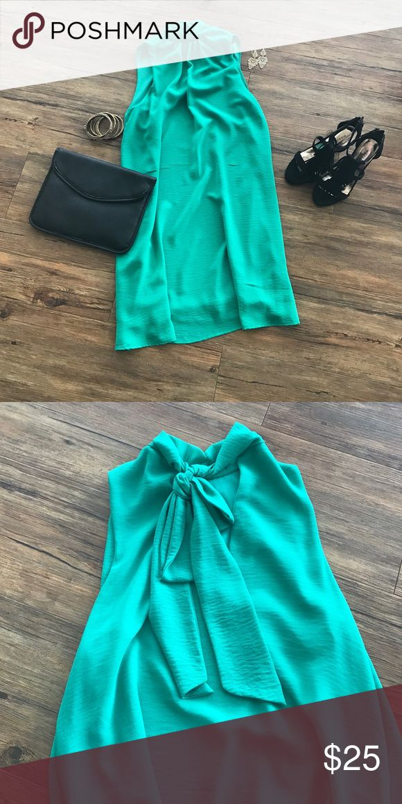 Green Apricot Lane dress Emerald green, high neck, tie back dress. Never worn, perfect for a night on the town or out with the girls! Tyche Dresses Mini