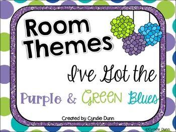 Class Decor - Purple Green Blue
