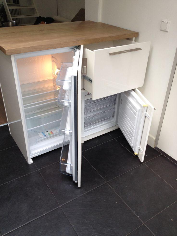 24 best images about opbergers ook kasten maken van je huis een thuis on pinterest we - Gekleurde muren keuken met witte meubels ...
