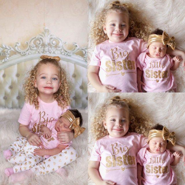 Big Sister Little Sister Newborn Outfits Cheap Online
