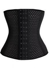 Plus Size Black Strapless Workout Waist Trainer | lulugal.com