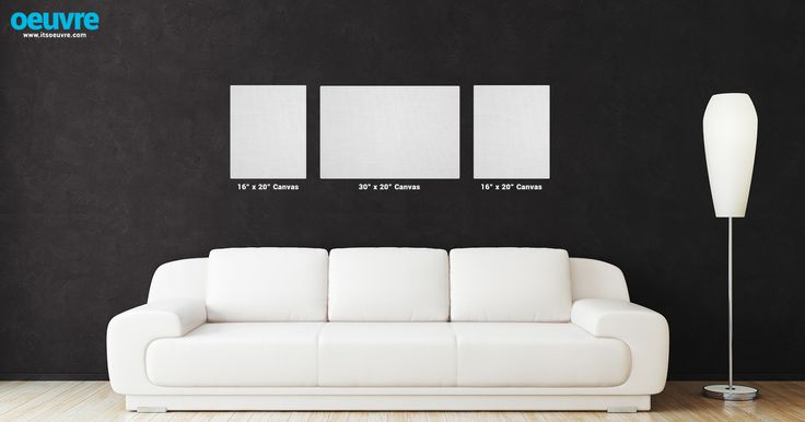 Canvas Photo Wall Layout Using Two 16 X 20 And One 30 Visit Our Website Onacanvas