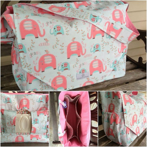 Large Deluxe Nappy Bag - love this and you can choose your fabric from her website.  I think I may have found my nappy bag!