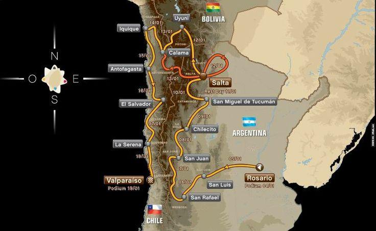 ¿Cómo será el día a día del Dakar 2014? Saldrá el 5 de enero desde Rosario, en Argentina, y finalizará el 18 de enero en Valparaíso, después de recorrer cerca de 9.000 kilómetros.