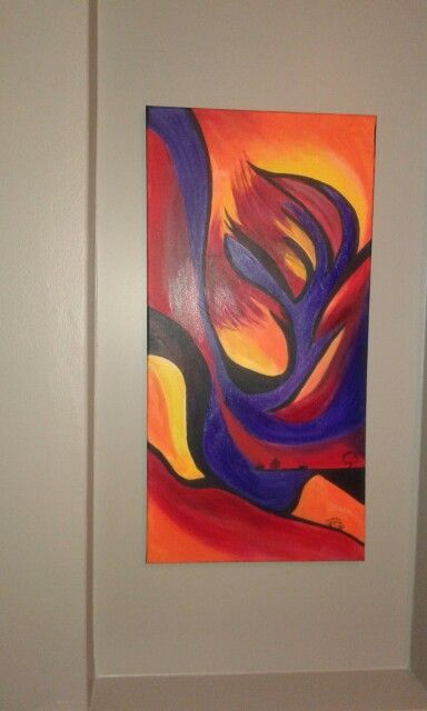 Abstract in acrylics.
