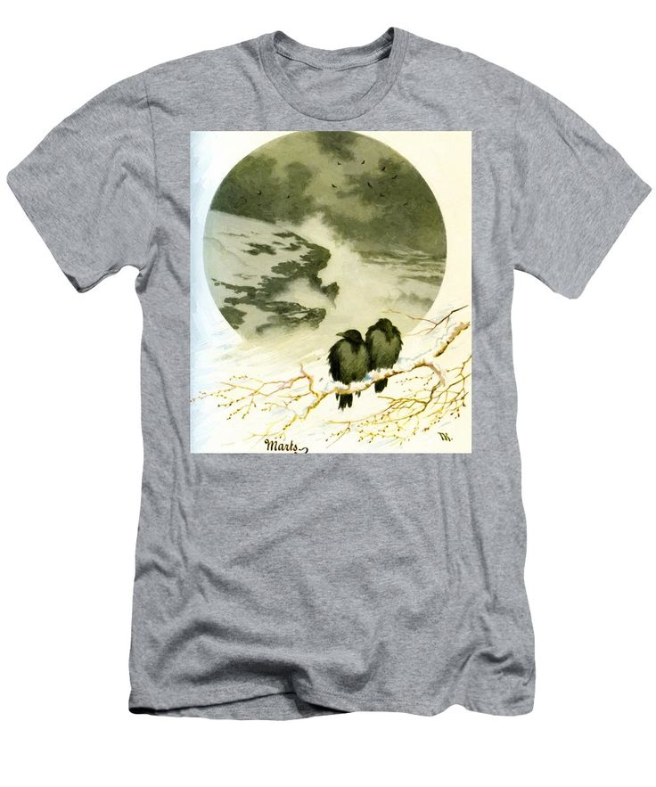 March Men's T-Shirt (Athletic Fit) featuring the painting March 1890 by Kittelsen Theodor Severin