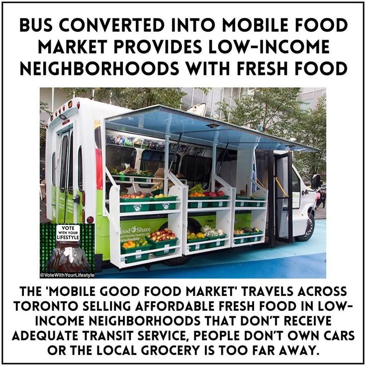 What a great solution for people who literally cannot make it to the nearest grocery store.  Instead of providing 'food stamps' that they can't use since they can't get to the grocery store (and instead settle for their local fast food restaurants) this city is bringing healthy food to low income neighborhoods.  REPORT: The Mobile Good Food Market travels across Toronto selling affordable fresh food in neighborhoods selected through consultation with local communities and analysis of access…