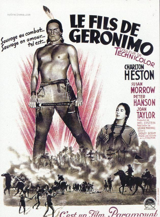 THE SAVAGE (1953) - Charlton Heston - Susan Morrow - Directed by George Marshall - Paramount - Movie Poster.