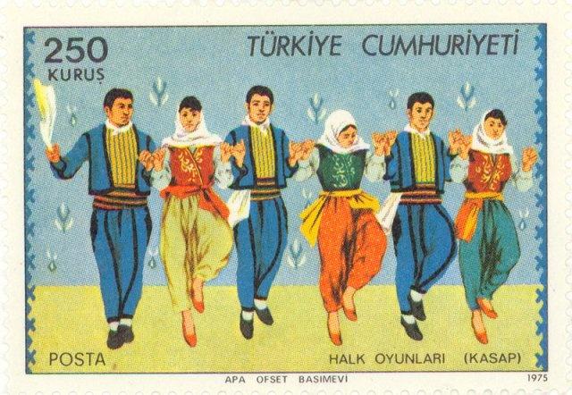 1975  Turkey  -  Kasap folk dance