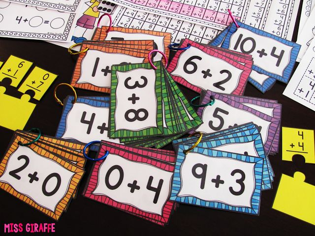 Put facts on binder rings for each number so kids can just grab and go for practice! (Fact Fluency in First Grade)