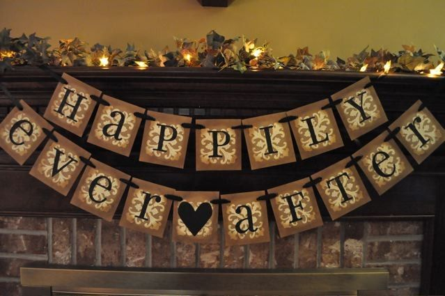 Wedding Banner Bundle Reception Anniversary Bride Groom Shower Garland Sign Photo Prop Choose Your 4 Banners Custom and Personalized. $78.00, via Etsy.