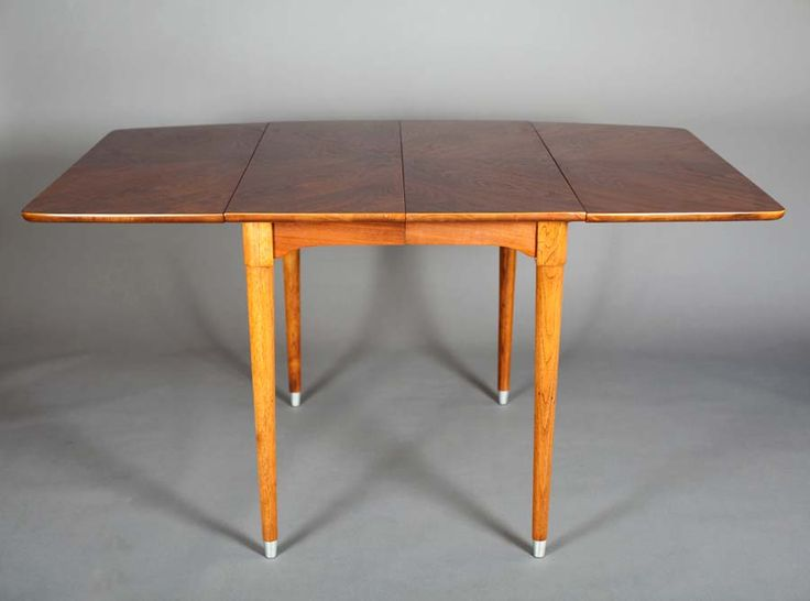 Lovely 1960u0027s Vintage Danish Modern / Mid Century Teak / Walnut Rectangular Drop  Leaf Dining Table | Mid Century Modern | Pinterest | Danish Modern, ...