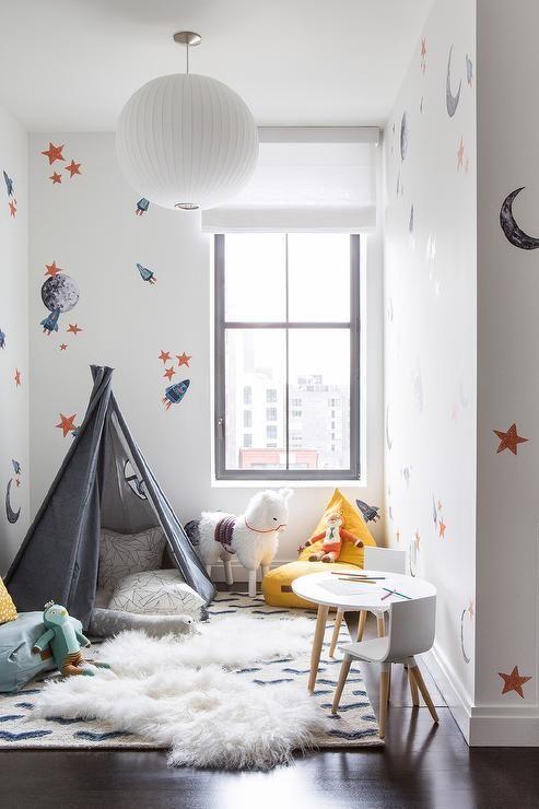 Raum, inspiriert von Raum und Galaxien, ist der perfekte Weg, um die Neugier der Kinder für die Welt zu steigern.