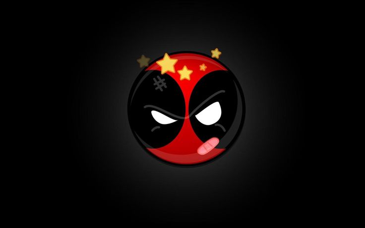 funny deadpool logo wallpapers hd