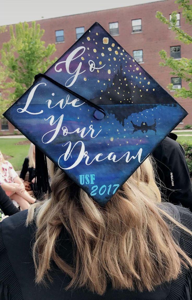 Disney Tangled Graduation Cap inspirational quote college high school princess